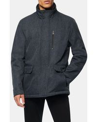 Andrew Marc Mullins Quilted Bib Jacket - Blue