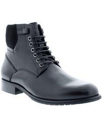Zanzara Kenz Leather Lace-up Boot - Black
