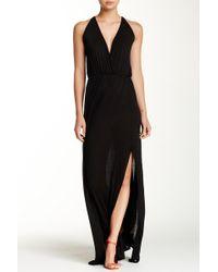 Go Couture - Empire Waist Slit Maxi Dress - Lyst