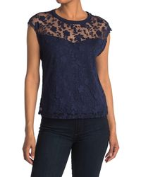 Laundry by Shelli Segal Burn Out Top - Blue