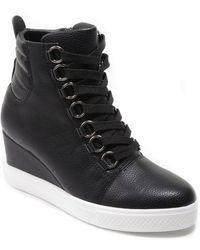 Catherine Malandrino Lorna Wedge Sneaker - Black
