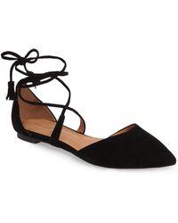 Halogen (r) Oliver Ankle Wrap Flat (women) - Black
