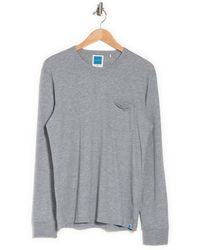 Jason Scott Yale Long Sleeve Crew Neck T-shirt - Gray
