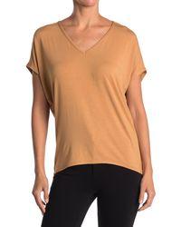 T Tahari V-neck Knit Top - Orange