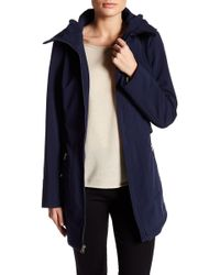 Jessica Simpson - Belted Soft Shell Jacket With Hood - Lyst