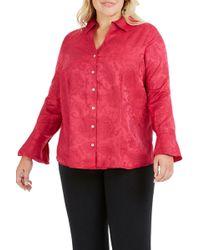 Foxcroft - Ellery Paisley Jacquard Shirt - Lyst