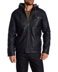 Sean John - Detachable Hood Faux Fur Jacket - Lyst
