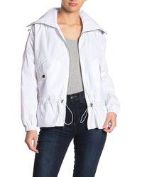Lucky Brand Missy Hooded Windbreaker Jacket - White