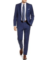 Peter Millar Flynn Classic Fit Check Wool Suit - Blue