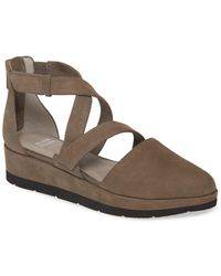 Eileen Fisher Bovery Strappy Platform Wedge - Brown