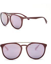 Emporio Armani - 58mm Browbar Acetate Frame Sunglasses - Lyst