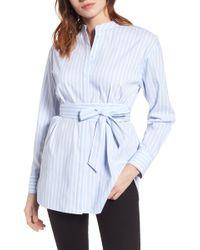 Halogen - Belted Poplin Shirt (regular & Petite) - Lyst