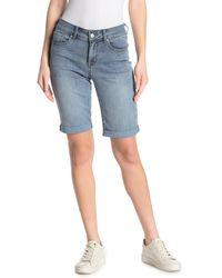 NYDJ Briella Rolled Cuff Bermuda Shorts - Blue