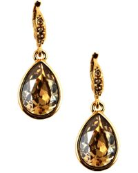 Givenchy - Goldtone Teardrop-shaped Crystal Drop Earrings - Lyst