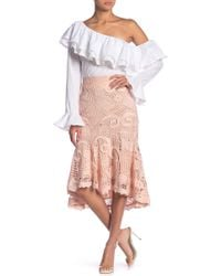 Endless Rose Mermaid Lace Fit & Flare Skirt - Pink