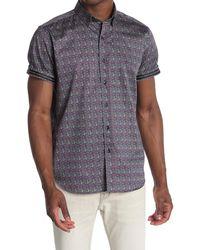Robert Graham Mackland Short Sleeve Shirt - Blue