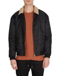 Zanerobe - Yeti Nylon Jacket With Faux Shearling Trim - Lyst