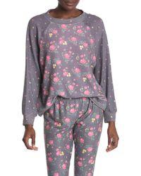 Wildfox Floral Print Sweatshirt - Gray