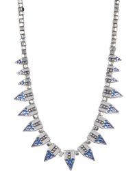 Jessica Simpson - Pattern Spike & Bead Necklace - Lyst