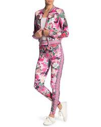 Jealous Tomato Printed Track Suit 2-piece Set - Pink
