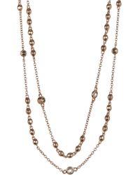 Judith Jack - Rose Gold Plated Sterling Silver Bezel Set Swarovski Crystal Marcasite & Cz Station Necklace - Lyst