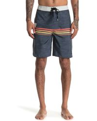 Rip Curl Side Line Print Board Shorts - Blue