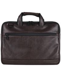 Kenneth Cole Reaction - Distressed Faux Leather Messenger Bag - Lyst