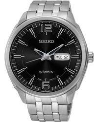 Seiko - Men's Stainless Steel Mechanical Watch - Lyst