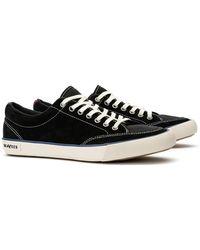 Seavees Westwood Suede Varsity Sneaker - Black