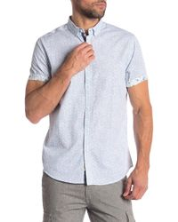Heritage - Wave Print Slim Fit Shirt - Lyst