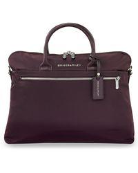 Briggs & Riley Slim Business Briefcase - Purple