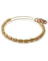 ALEX AND ANI - Beehive Beaded Expandable Wire Bangle Bracelet - Lyst