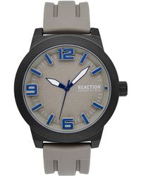 Kenneth Cole Reaction Men's Silicone Strap Watch, 45mm - Multicolor