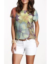 Go Couture Printed Short Sleeve T-shirt - Multicolor