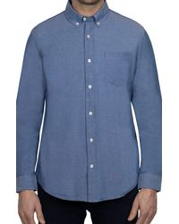 Slate & Stone Solid Woven Regular Fit Shirt - Blue