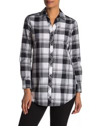 Foxcroft Faith Plaid Print Shirt - Black