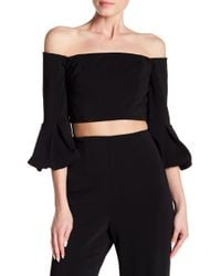 Jay Godfrey - Camrose Bell Sleeve Off-the-shoulder Top - Lyst