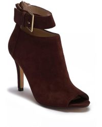 Adrienne Vittadini - Gail Ankle Strap Suede Bootie - Lyst