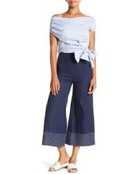 Do+Be Collection - Topstitched Wide Leg Trousers - Lyst