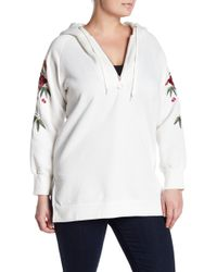 Glamorous - Embroidered Hoodie (plus Size) - Lyst