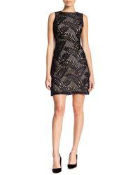Sharagano - Sleeveless Lace Dress (petite) - Lyst