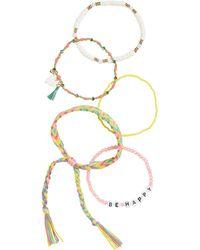 BP. Multi Bead Thread Bracelet - Orange