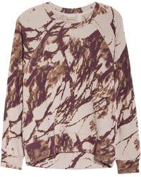 Zella Jamie Ink Print Crewneck Sweatshirt - Pink
