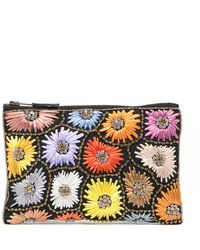 G-Lish Embroidered Pouch - Multicolor
