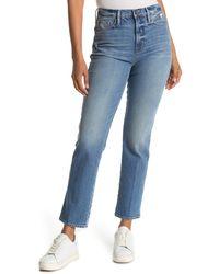 FRAME Le Sylvie High Waist Slender Straight Leg Jeans - Blue