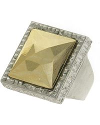 1928 - Two-tone Stone Ring - Size 8 - Lyst