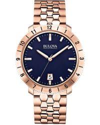 Bulova - Men's Moonview Bracelet Watch - Lyst