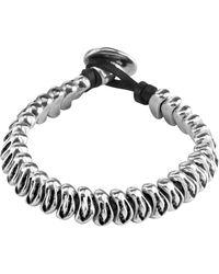 Uno De 50 - Morphine Stacked Beaded Leather Bracelet - Lyst