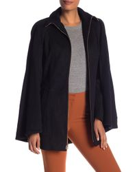 Laundry by Shelli Segal - Wool Blend Belted Cape - Lyst