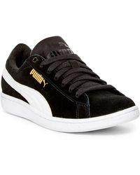 PUMA Vikky Foam Suede Sneaker - Black
